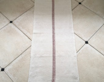 NS1853 Natural Limestone with Russet Stripe Linen/Cotton Grainsack