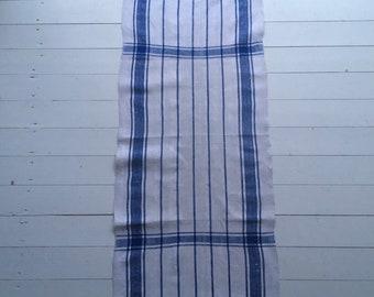 Blue Stripe Tea Towel Linen