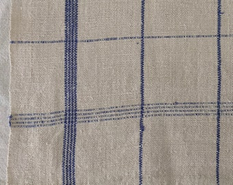 Dark Blue Stripe Tea Towel Linen Vintage