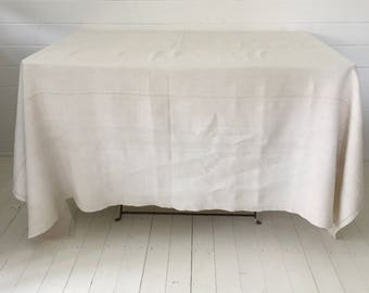 NTS1705 Tablecloth/Sheet Linen for Tablecloths  Large and Small Tables Vintage Fabric Handmade Linen