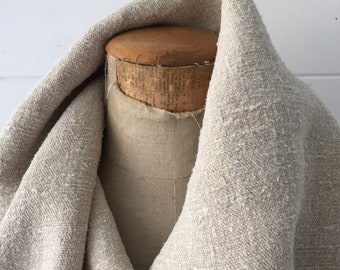 Natural Limestone Sandy Vintage Floppy Linen Table Runner Upholstery Fabric Cushions Sewing Projects NLR2105 Washed and ready to Go