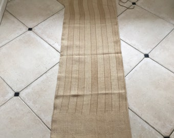 NS1837 Caramel Stripe Twill Natural Sandstone Vintage Linen Grainsack