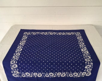 Hand Blocked and Hand Blue Dyed Fine Cotton Tablecloth BDT1902