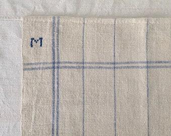 Light Blue Checked Linen Napkin/Placemat