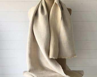 Natural Limestone Sandy Vintage Floppy Linen Table Runner Upholstery Fabric Cushions Sewing Projects NLR2108 Washed and ready to Go