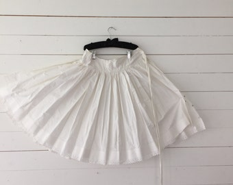 Vintage White Cotton Petticoat
