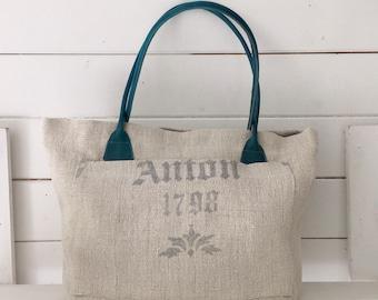 Upcycled Printed Pocket Handbag