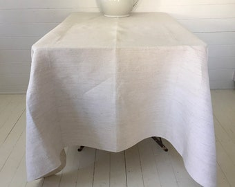 NTS1906 Cream Tablecloth /Sheet Linen for Tables Upholstery