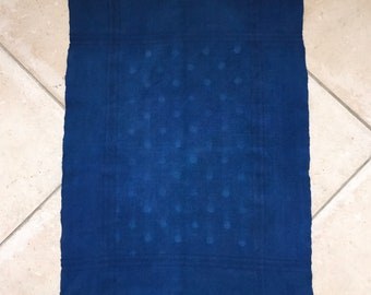 Indigo Dyed Tea Towel Linen DTT2002