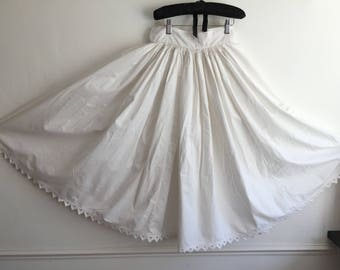 Natural Cotton Petticoat Circle Skirt