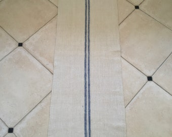 NS1846 Blue Stripe Natural Limestone Vintage Linen Grainsack