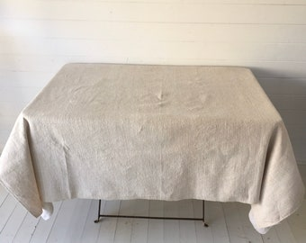 NTS2003 Cream/Sandy Tablecloth /Sheet Linen for Tables Upholstery Projects Vintage Fabric Handmade Linen