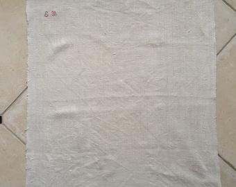 Guest Towel Natural Oatmeal  Handmade Linen With EM Monogram Vintage Fabric GT2020
