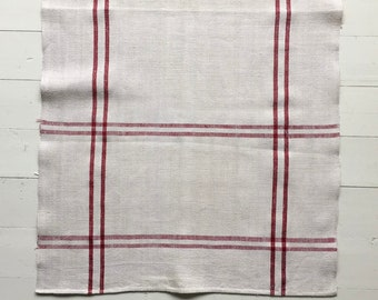 NTT1909 Red Berry Stripe Tea Towel Linen