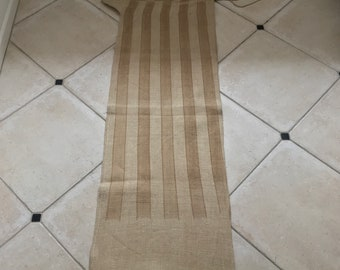 NS1834 Caramel Stripe Twill Natural Sandstone Vintage Linen Grainsack