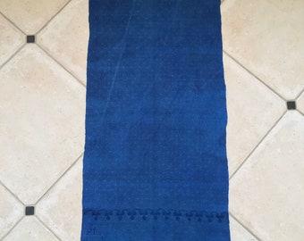 Overdyed Indigo Tea Towel Linen Vintage Fabric Handmade Linen DTT2003
