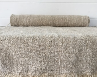 Natural Stone Vintage Soft Floppy Linen Table Runner Upholstery Fabric Cushions Sewing Projects NLR2104