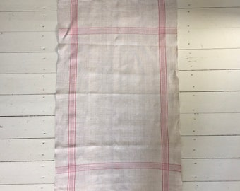 Pink Stripe Tea Towel Linen