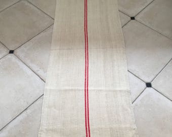 NS1724 Red Natural Limestone Vintage Linen Grainsack