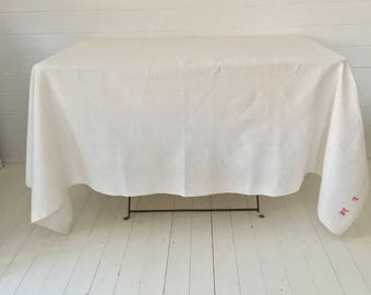 Cream Tablecloth /Sheet Linen