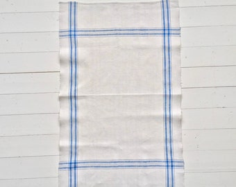 NTT1911 Sky Blue Stripe Tea Towel Linen
