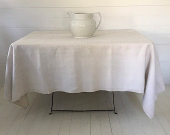 NTS1904 Cream Tablecloth /Sheet Linen for Tables Upholstery