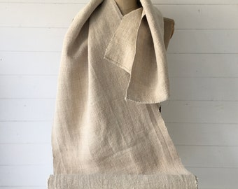 Natural Limestone Sandy Vintage Floppy Linen Table Runner Upholstery Fabric Cushions Sewing Projects NLR2102