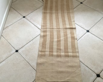NS1836 Caramel Stripe Twill Natural Sandstone Vintage Linen Grainsack