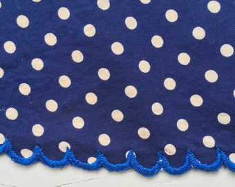 Indigo Blue Dot Apron Vintage Hungarian Cotton