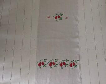 Embroidered Tea Towel Linen