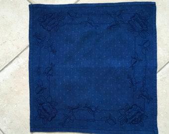 Indigo Tea Towel Linen Vintage Fabric Handmade Linen DTT2006