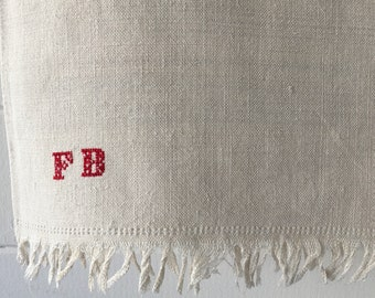 Off White Tablecloth Sheet Fine Hand Spun Linen with Open Thread Work Hems Sewing Projects Blinds Curtains Washed and ready to Go NTS2103