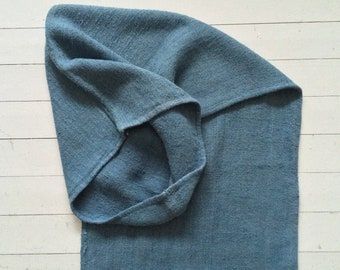 Grey Blue Dyed Vintage Linen Grain Sack Upholstery Fabric Flour Sack for Sewing Projects Bench Seats Bath Mat Pillow Cushions Cover DNS2005