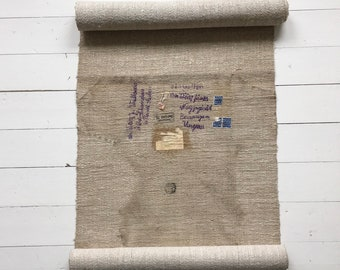 Historic Wall Hanging Second World War Refugees Hungarian Address Postage Stamp