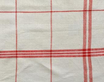 Red Stripe Tea Towel Linen Handmade Linen NTT1508