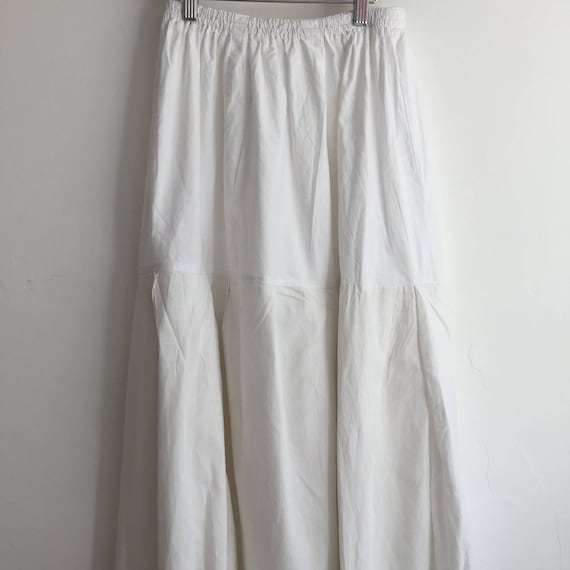 Long Natural Cotton Petticoat Circle Skirt Vintag… - image 4