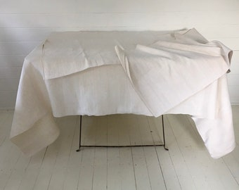 NTS1905 Cream Tablecloth /Sheet Linen for Tables Upholstery