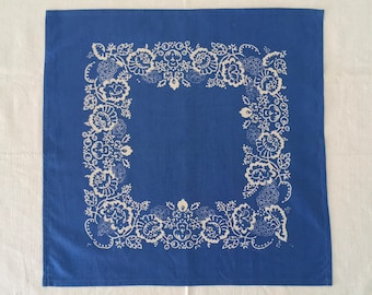 Hand Blocked and Hand Blue Dyed Fine Cotton Centrepiece/Napkins