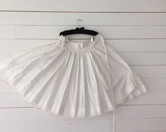 Vintage White Cotton Petticoat