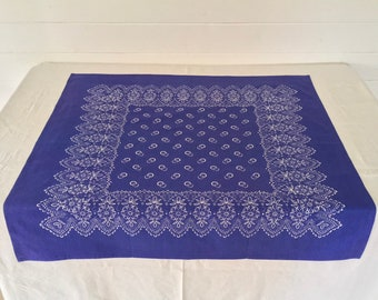 Hand Blocked and Hand Blue Dyed Fine Cotton Tablecloth BDT1904