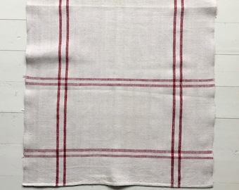 NTT1909 Red Berry Stripe Tea Towel Linen