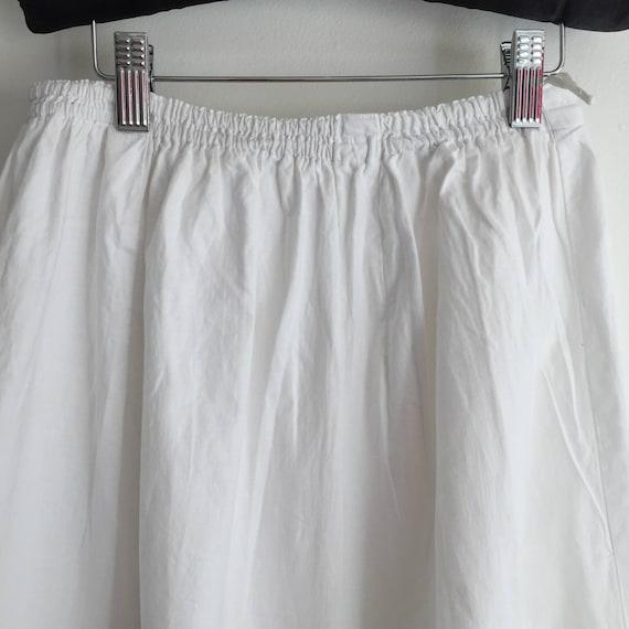 Long Natural Cotton Petticoat Circle Skirt Vintag… - image 3