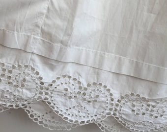 Long Natural Cotton Petticoat Skirt