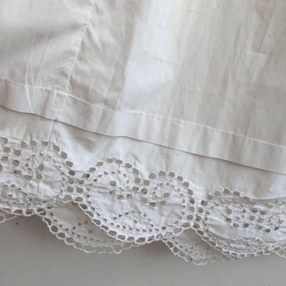 Long Natural Cotton Petticoat Circle Skirt Vintag… - image 1