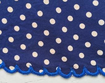 Indigo Blue Dot Apron Vintage Hungarian Cotton