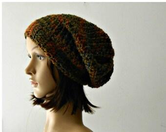 Phrigian cap, Crochet slouchy beanie, wool hat, Boho chunky crochet beanie, woman crochet hat rasta style, valentine gift slouchy beret