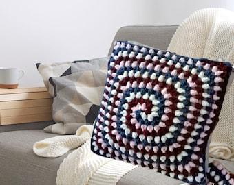 crochet pillow cover, merino wool crocheted cushion, pillow case customizable gay wedding gift, gay housewarming gift, mens cave decoration