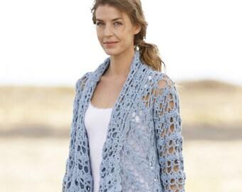 Custom made summer crochet jacket, mother of the groom cardigan lace effect, openwork jacket, crochet bolero, elegant cardigan, crochet cape