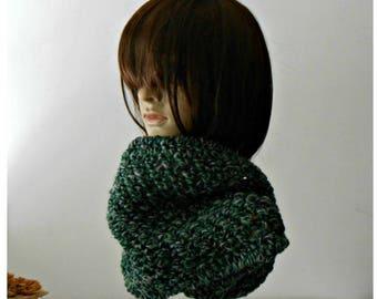 Crochet tube scarf, snood, Chunky Crochet cowl, chunky wool neckwarmer, womens infinity cowl, crochet circle scarf, mother's day gift