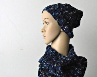 Set sciarpa e cappellino lavorato ai ferri completo sciarpa e  779915dce3f3